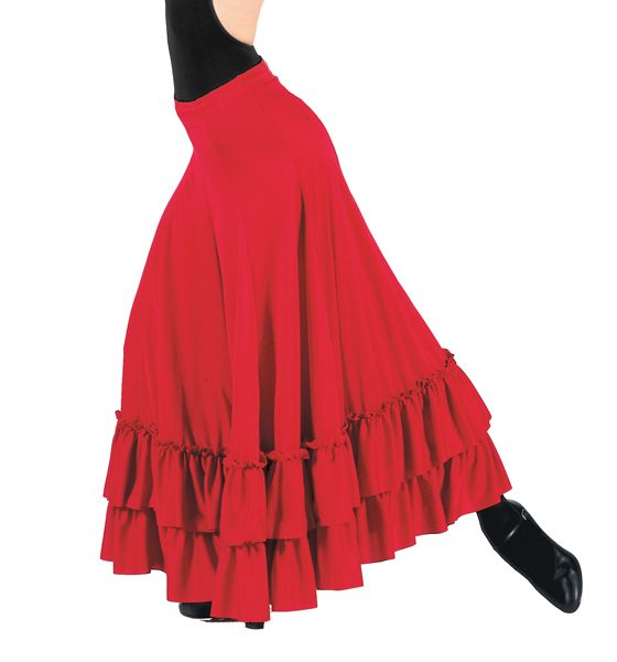 Bal Togs Adult Flamenco Skirt - DiscountDance.com.  No idea if a Flamenco skirt can be used for standard ballroom, but it's pretty!  :)  Also in white and black.  $36.