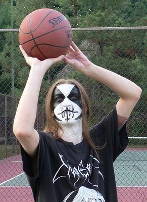 Black metal basketball