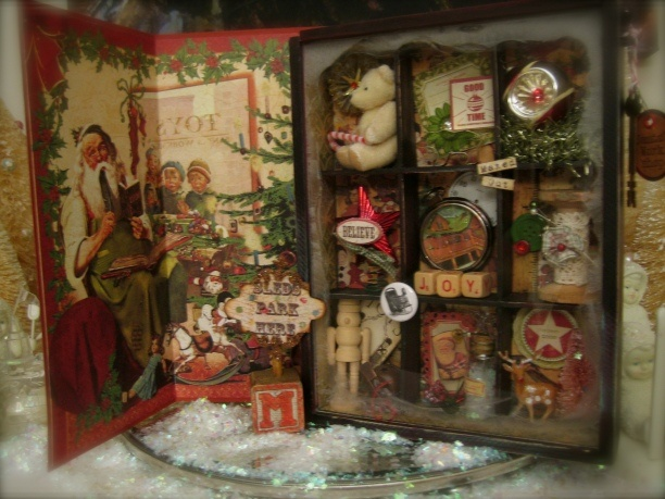 Altered Art - Christmas Shadow Box
