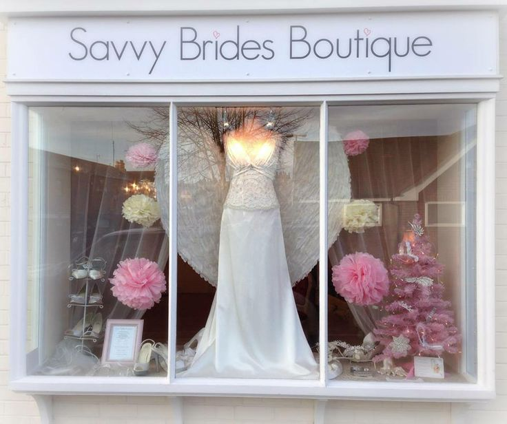 Xmas window part two  The Bridal Room Atherstone | www.TheBridalRoomAtherstone.co.uk | info@ TheBridalRoomAtherstone.co.uk | T:01827 767 080 | #brides #wedding