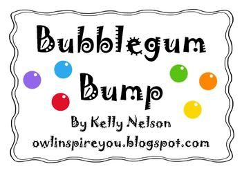 This game is designed for two students to practice addition, while playing the popular math game: Bump.  Print this game board onto card stock and laminate.  Provide the students with 10 double-sided bingo chips each and dice and that's it! It is fun and exciting and would be perfect as an addition game during centers time!