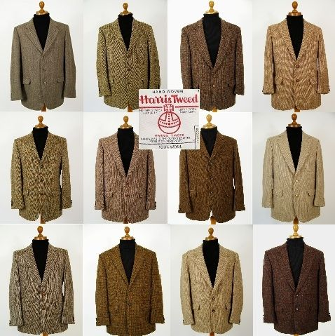 Brown Harris Tweed jacket. Mens brown Harris Tweed jackets.. pure wool mens…