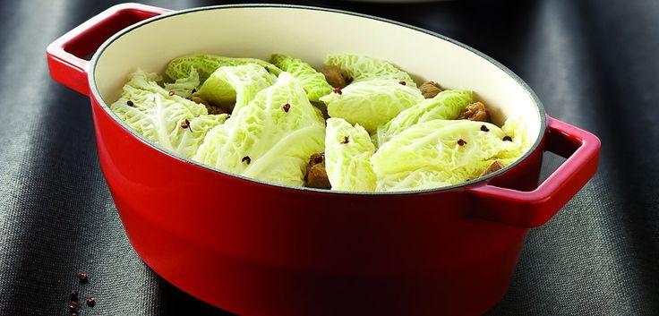 Pyrex SlowCook Mini cocotte ovale rouge en fonte d'acier - cuisson four et tous feux dont induction - 15 cm