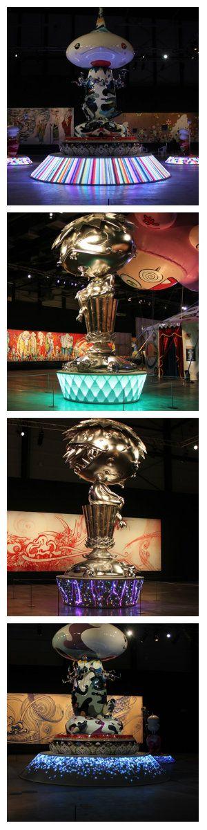 Светодиодная инсталляция от дизайнера Takashi Murakami