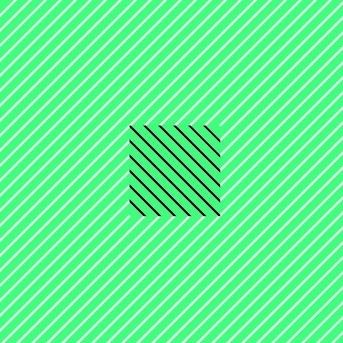 The green is identical throughout this illusion