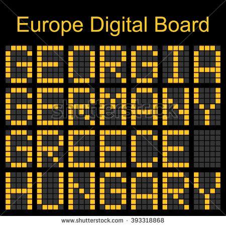 Europe airport digital boarding for Grorgia-Germany-Greece-Hungary