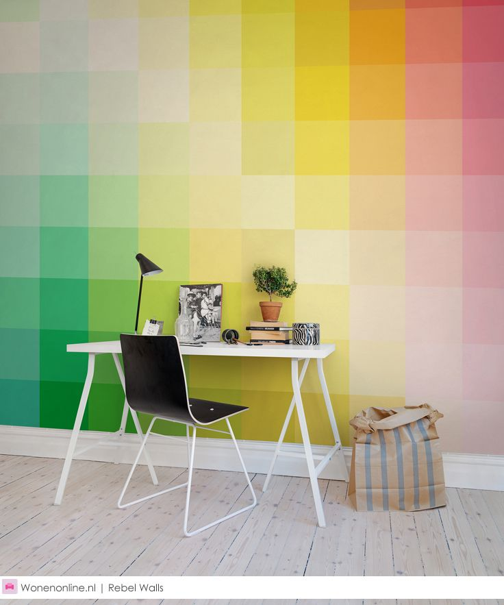 De nieuwste behangcollectie van Rebel Walls heet Spectrum #behang #wallcoverings