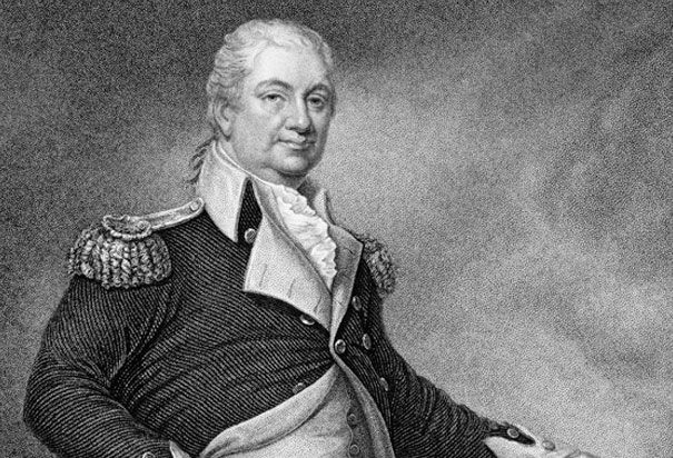 Major General Henry Knox by John Francis Eugene Prud'homme: Henry Knox (1750-1806), an American general during the Revolution, became the first Secretary of War under the US Constitution. Knox is well known for bringing captured British artillery from Fort Ticonderoga to Boston in 1776.