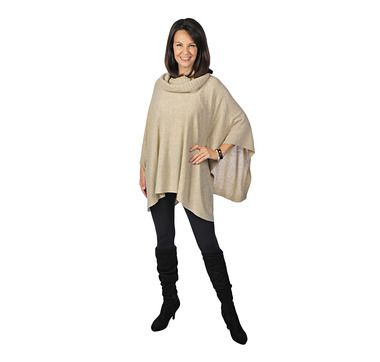 Orange Fashions Cowl Neck Poncho.  Available at Tranquility Tillsonburg.