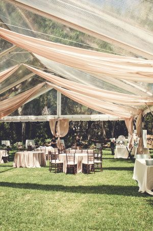 I have a serious love-affair with backyard weddings, that's no secret, and when this South Carolina backyard stunner came my way, my heart skipped a beat.  One part casual outdoors and one part black-tie formal, this tented masterpiece planned by Tiger