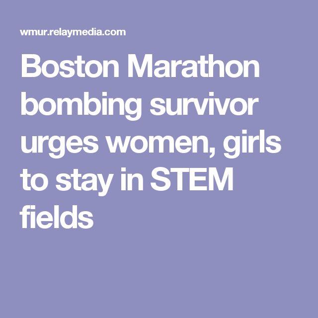 Boston Marathon bombing survivor urges women, girls to stay in STEM fields