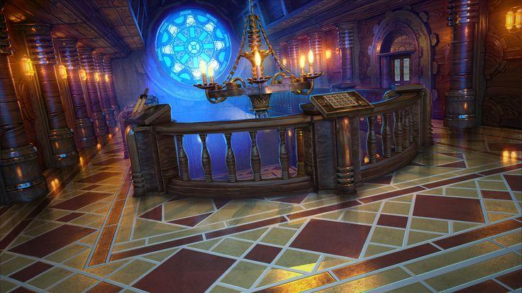 Clockwork Tales: Of Glass and Ink #steampunk #adventure #game #lobby #upstairs #art www.artifexmundi.com/page/clockwork/ www.facebook.com/ArtifexMundi.ClockworkTales