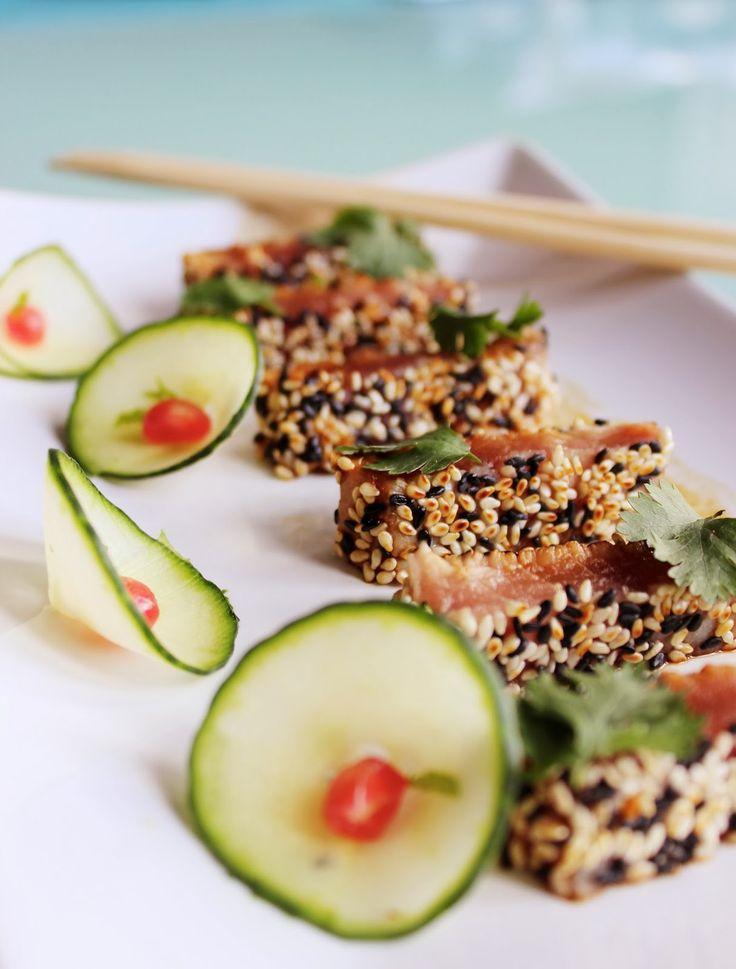 Fait! Très bon ! Cooking the city: Thon mi-cuit au sésame, sauce soja épicée