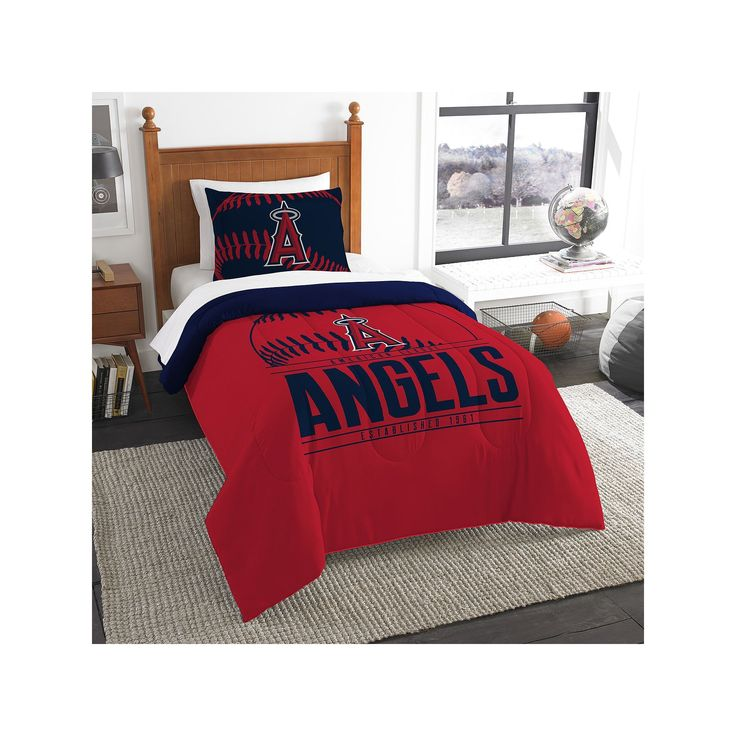 Los Angeles Angels of Anaheim Grand Slam Twin Comforter Set by Northwest, Multicolor