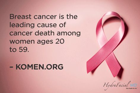 Get checked & remind others to get checked, too!  #BreastCancerFacts #PinkProvider #HydraFacial