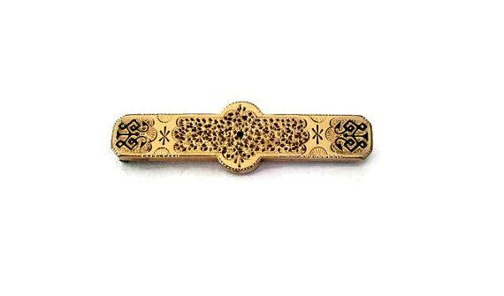 Lingot d'or édouardienne broche broche Antique par WeeLambieVintage
