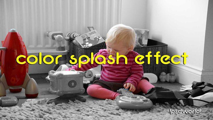 Color Splash Effect in Photoshop | Sin City Effect