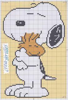 Snoopy & Woodstock cross stitch pattern