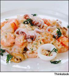 Risotto alla Pescatora (Seafood risotto) Chef Michael White's bright-flavored seafood risotto, perfect for a juicy white