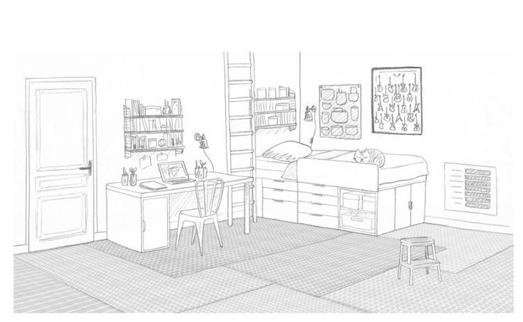 Dessin Chambre Perspective ~ Idées de Design Maison et Idées de ...