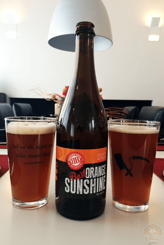 17-Oct-2015: Best Orange Sunshine by Brasserie Bours. A one-time brewed Craft beer, only 130 75cl bottles, bottled on 28-September-2014. This beer was especially made for the BEST project, one of the selected ASML 30 for change projects in conjunction with the 30th anniversary of Dutch semiconductor equipment manufacturer ASML in 2014. The brewer calls this beer a Hoppy Amber, with Galaxy, Citra & Kohatu hops. Five different types of barley were used (Pils, Munich, Cara, Crystal, and…