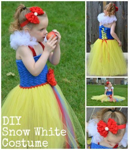 Snow White Costume Tutorial - Detailed Snow White Tutu Dress DIY with supplies source.