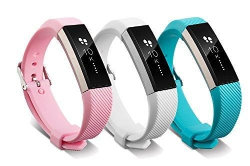 Fitbit Alta HR and Alta Bands With Metal Clasp BeneStellar Newest Silicone Bracelet Strap Replacement Small&Large Bands With Buckle for Fitbit Alta HR and Alta