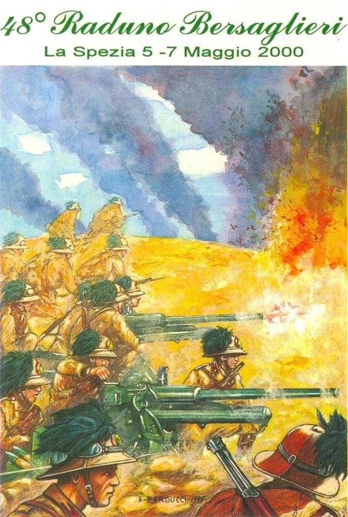 """Regio Esercito - Bir El Gobi, 19 novembre 1941 - L'8° Reggimento Bersaglieri della Divisione Corazzata """"Ariete """"in azione contro la XXII Brigata Corazzata Britannica."""