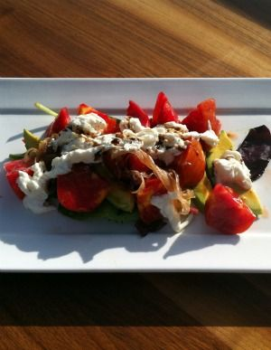 It's almost summer, dig in to this recipe for Heirloom Tomato Salad