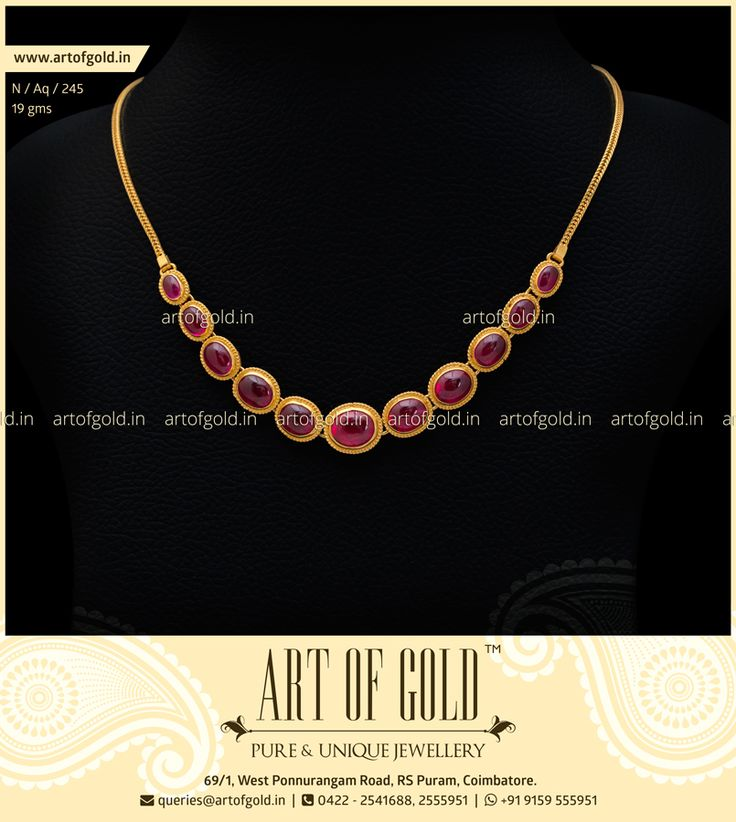 A gorgeous Light Weight Antique #Kemp Stone #Necklace that would go well with any Ethnic wear. Click to Buy.