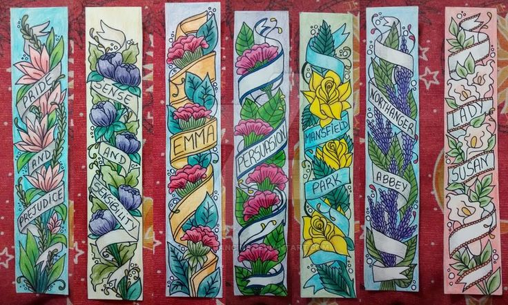 [Aug 8] - Jane Austen Bookmarks by MilaFrancine - Prefect for #JAusteninAugust !  [and all your JA reading..]
