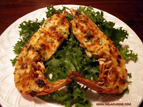 From Nola Cuisine This is a very old school dish, I know, but my oh, my does it ever taste great. In my book, rich and bubbly, cheesy Thermidor sauce with chunks of lobster is the stuff dreams are ...