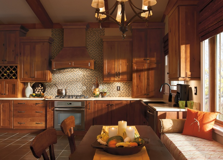 Spruce Up Your Kitchen With These Cabinet Door Styles: Rustic Hickory, From Homecrest, Brings A Homey Feeling To
