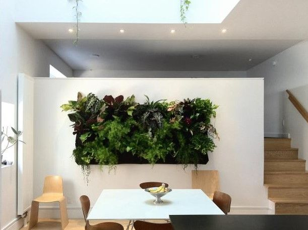 20+ Best Pictures Dining Room Wall Decor Ideas & Designs - Dining Room Wall Decor Ideas With Natural Vertical Garden