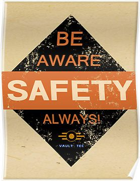 Fallout Vault Tec - Safety Warning Sign by HighDesign ...