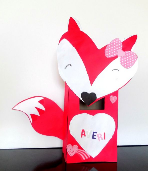 How To Make Valentines Box And Valentine Holder With Your Kids For Home Or  School.