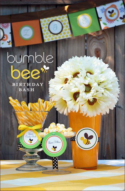 bumblebee party theme