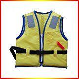AMYMGLL chaleco salvavidas para niños de la calidad del silbido + flotación de gran tamaño ambientalmente seguro