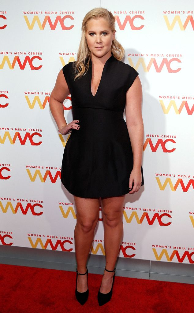 Amy Schumer from The Big Picture: Today's Hot Pics  The comedienneattends the Women's Media Center 2015 Women's Media Awards in Manhattan.