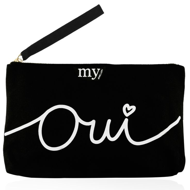 My Jewellery bag in bag - Oui via www.my-jewellery.com / #baginbag #myjewellery #blackandwhite