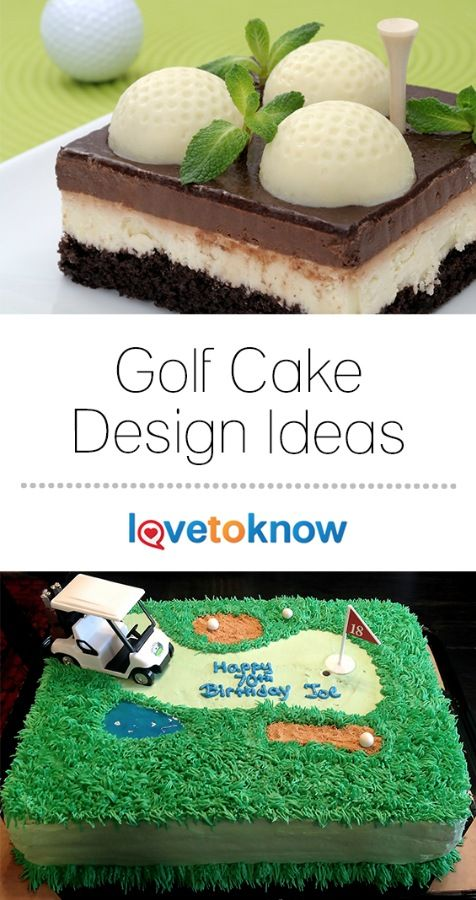 Golf is a beloved game, played by people of all ages. For a birthday, Father's Day, Mother's Day, a retirement party, and many more occasions, a golf-themed cake can be the perfect dessert & a great way to celebrate. Bring the excitement of the links to the party with one of these treats. | Golf Cake Design Ideas from #LoveToKnow