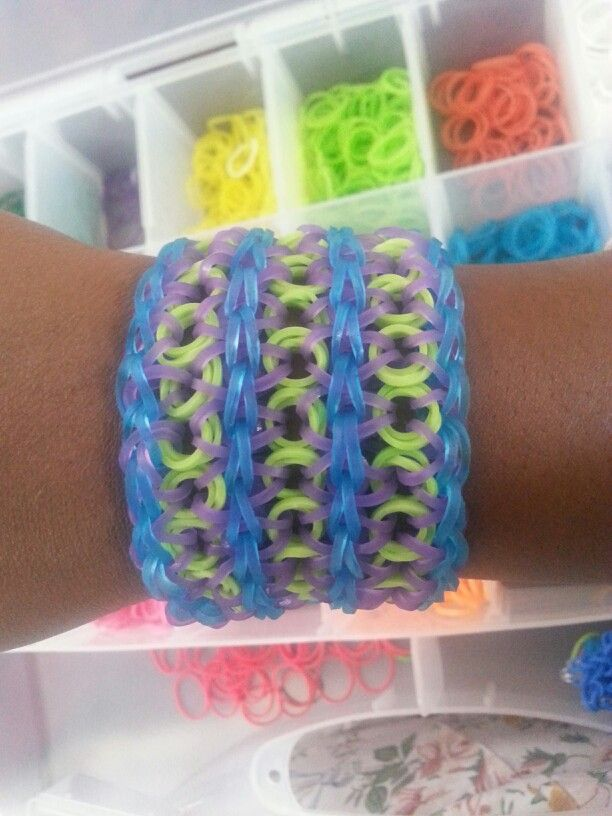 Triple monster inc. Inspired rainbow loom bracelet