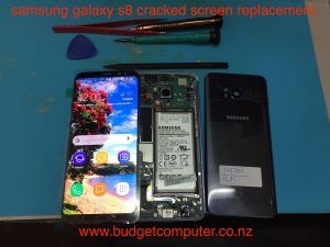 samsung galaxy s8 broken screen repair bring it to budget computer hamilton at 85 victoria street hamilton new zeland or call 078394111