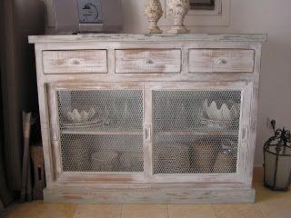 seaside mykonos furniture: Μπουφέδες και επιπλα χειροποίητα με πατίνα σε χρώμα ή ντεκαπέ.Για εξοχικά σπίτια και για σπιτια στην πολη