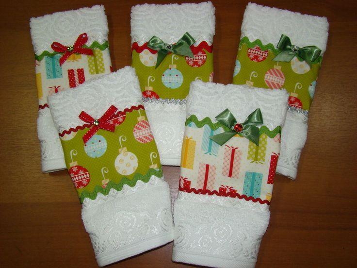 Toalhas lavabo Natal