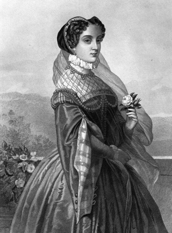 Mary Queen of Scotts | Mary, Queen of Scots, depicted in an 1885 engraving
