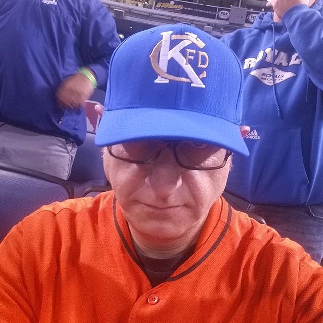 I am wearing this exclusive Kansas City Fire Department hat tonight to honor those who serve our country. on Monday two brave heroes lost their lives in Kansas City, Mo.