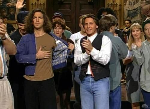 "On April 16, 1994, 11 days after Kurt Cobains suicide, Pearl Jam appeared on Saturday Night Live.  During a song Eddie Vedder pulled back his jacket to reveal a large ""K"" written on his t-shirt, and ended the song quoting Neil Young's ""Hey Hey, My My (Into the Black),"" which includes the ""it's better to burn out than to fade away"" reference in Kurt's suicide note."