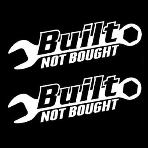 iJDMTOY (2) JDM Euro Cool Built Not Bought Drift Racing Turbo Racer Style Car Window Bumper Vinyl Decal Stickers - http://droppedprices.com/racing/ijdmtoy-2-jdm-euro-cool-built-not-bought-drift-racing-turbo-racer-style-car-window-bumper-vinyl-decal-stickers/