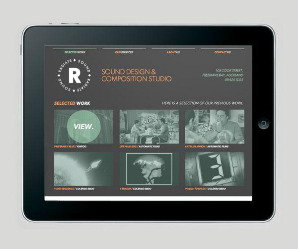 Radiate Sound mobile website design by Supply. #Branding #Design #Website